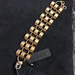 J. Crew Barrel Link Bracelet Antique Gold *NWT*